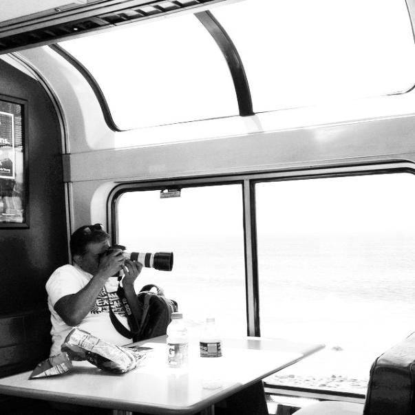 Strangers on train