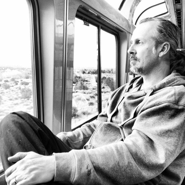 Jim on train