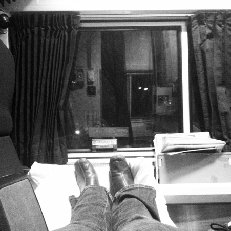 Resting on a Train